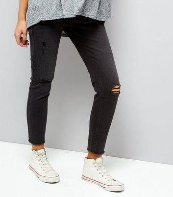 New Look Maternity Black Ripped Knee Under Bump Jeggings (Sizes: 18 L28, 10 L30, 8 L30, 12 L30, 16 L30, 14 L30, 18 L30, 10 L32, 8 L32, 12 L32, 16 L32, 14 L32, 18 L32, 18 L34, 10 L34, 20 L30, 20 L32)