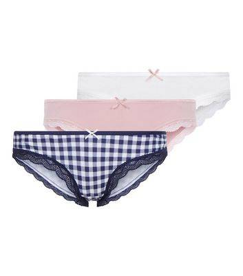 New Look Maternity 3 Pack Assorted Underbump Briefs (Sizes: 6, 18)