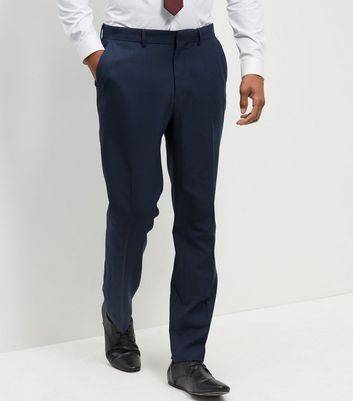 New Look Blue Regular Suit Trousers (Sizes: 28S, 28R, 30S)