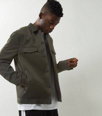 New Look Dark Green Tailored Button Front Jacket (Sizes: XS)