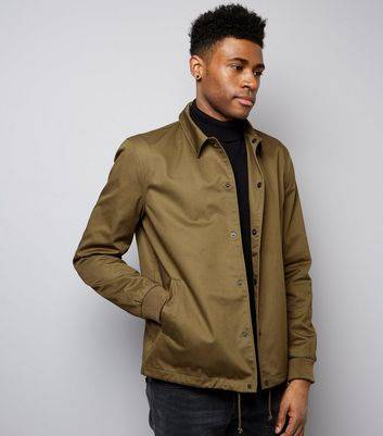 New Look Khaki Coach Jacket (Sizes: XS, M, L, XL, XXL)
