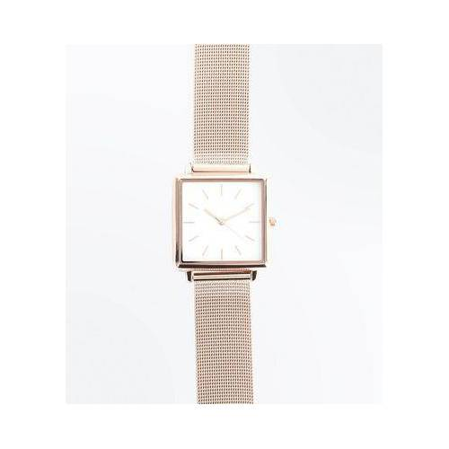 New Look Rose Gold Mesh Strap Watch (Sizes: One size)