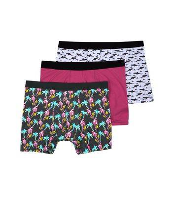 New Look 3 Pack Patterned Boxer Briefs (Sizes: XXS, L, XL, XXL)