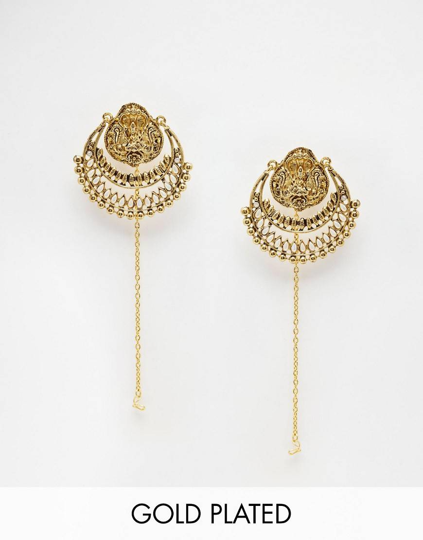 Taara Jewellery 22k Gold Plated Earrings - Gold