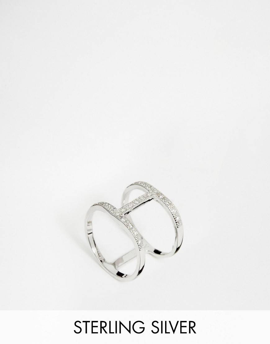V Jewellery Simplicity Spine Ring - Silver