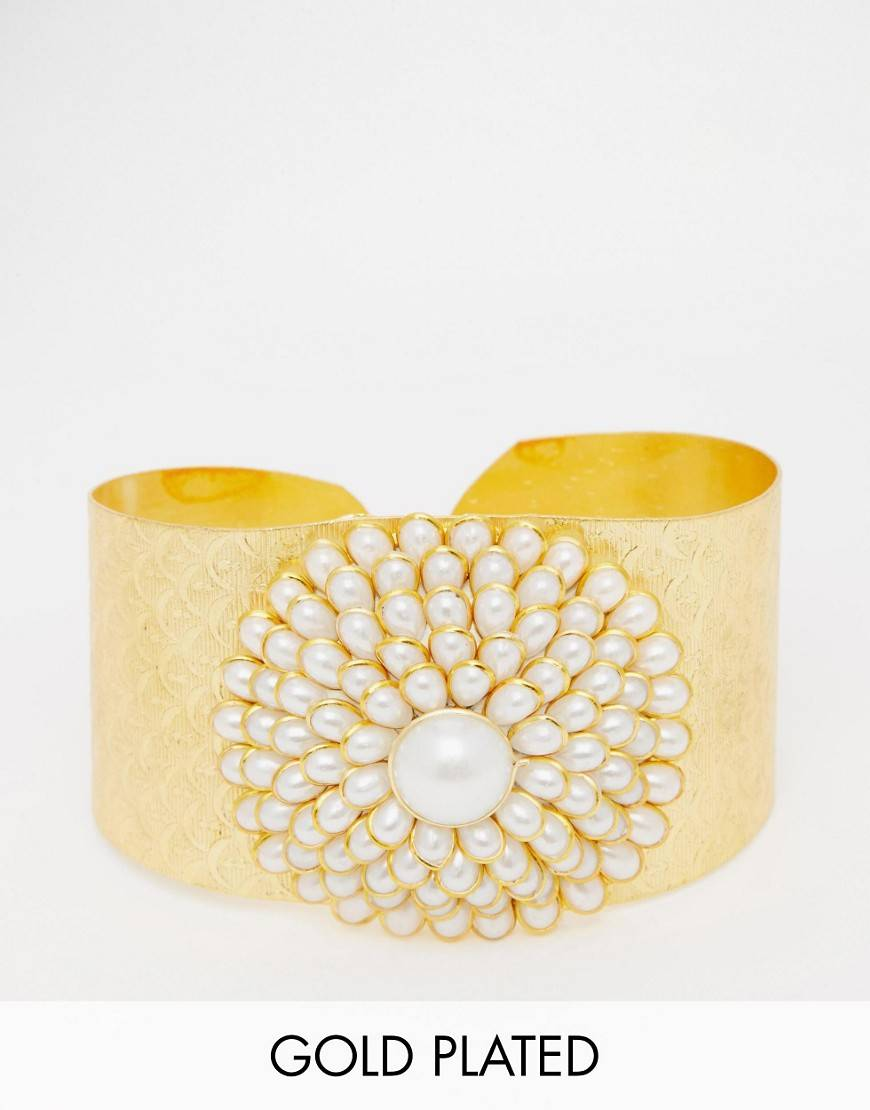 Taara Jewellery 22k Gold Plated Cuff - Gold