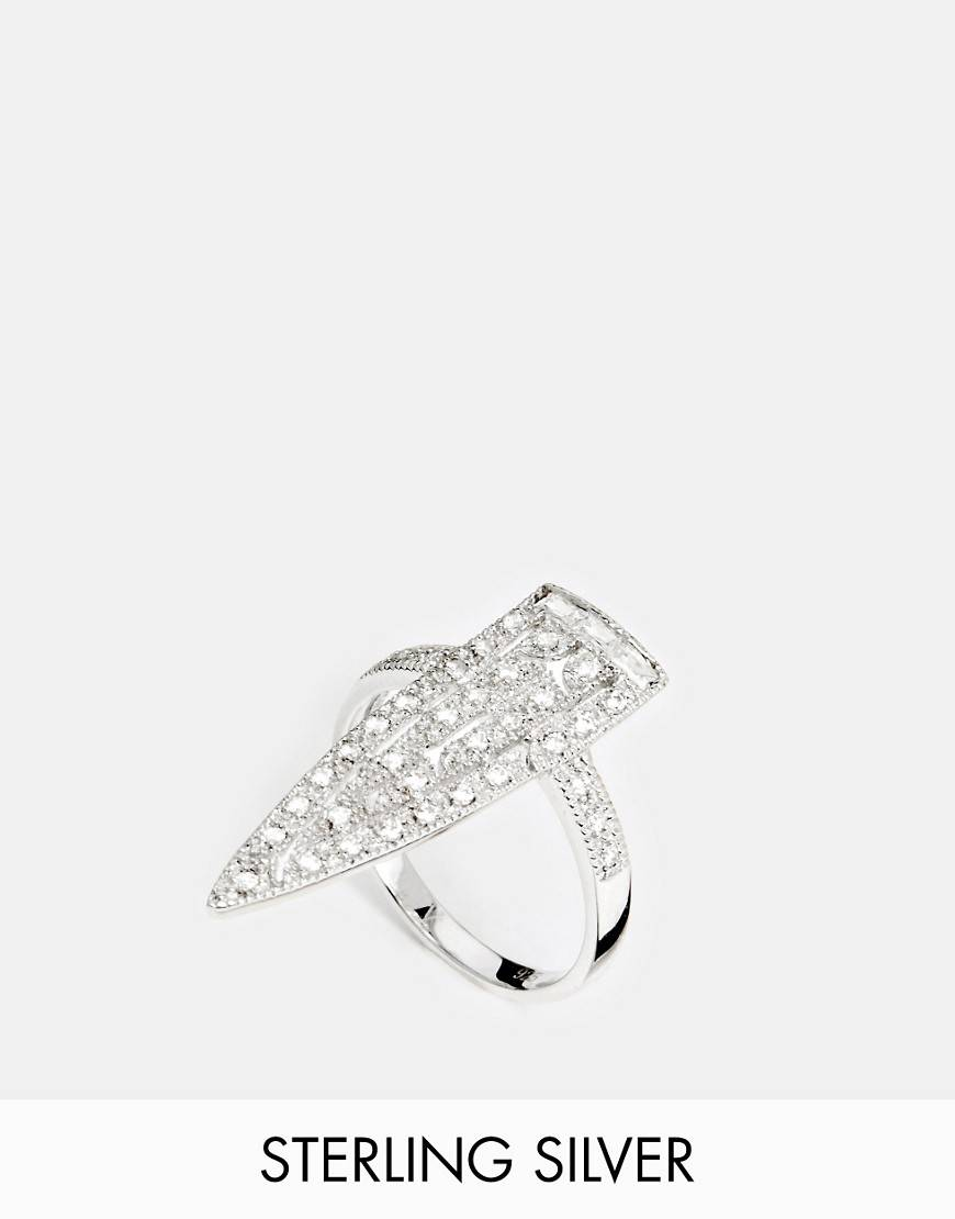 V Jewellery Royal Sword Ring - Silver