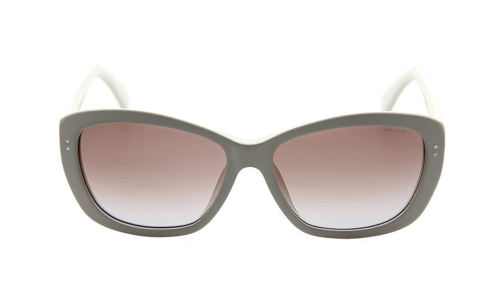 Police Sunglasses - S1676M_580ACG_W - Beige Frame, Brown Lens