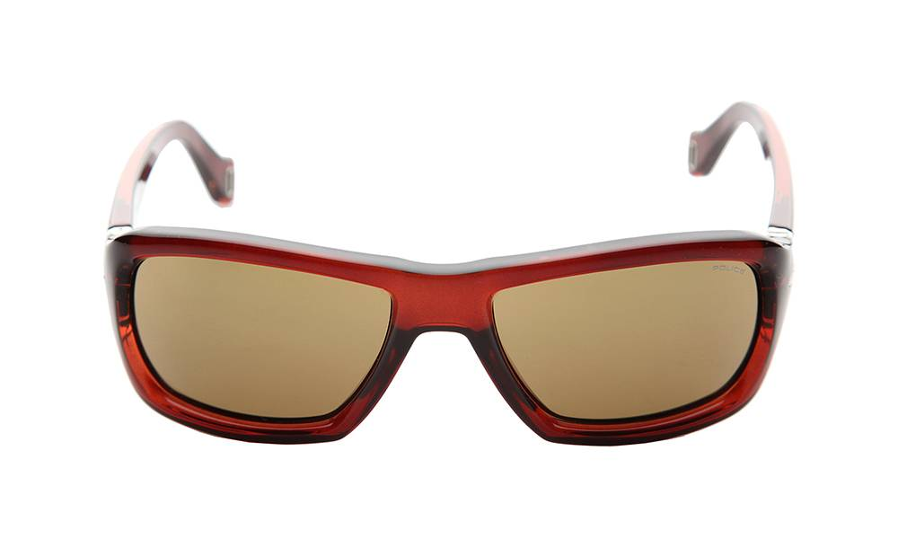 Police Sunglasses - S1709_570Z90_W - Orange Frame, Brown Lens