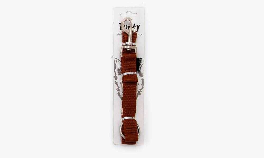 Bunty pet travel seat belt for dogs and cats, brown