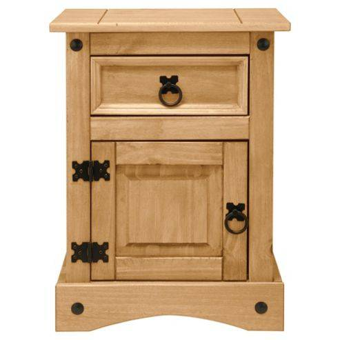 Furniture Solutions Cordoba Bedside Table, Solid Wood