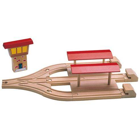 Toys 3 Way Station For Wooden Railway Train Set 50947 - Brio Bigjigs Compatible