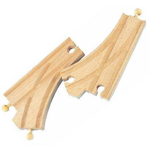 Toys Curved Switch Track 2pcs For Wooden Railway Train Set 50907 - Brio Compatible