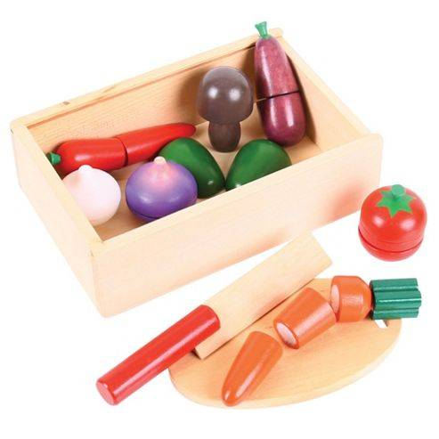 Bigjigs Toys Bj748 Wooden Play Food Cutting Vegetables