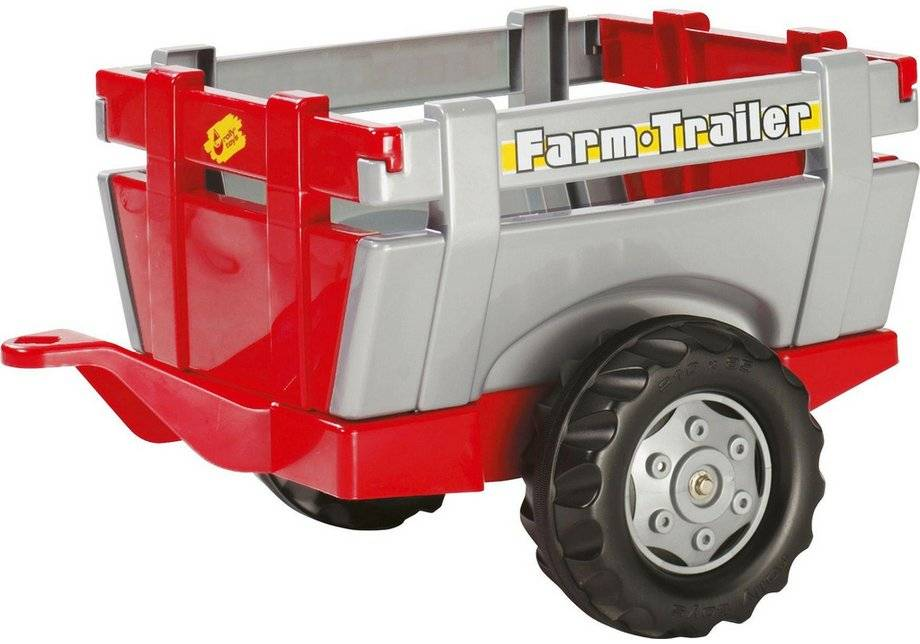 Rolly Red and Silver Farm Trailer for Child's Tractor.