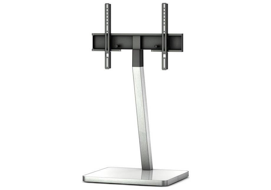 Sonorous TV and Media Stand - White and Silver.