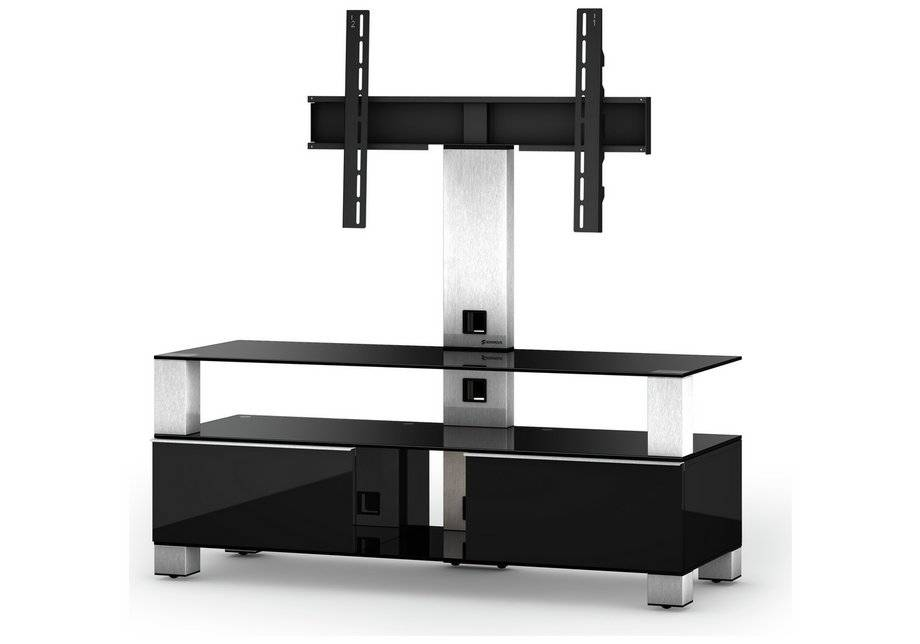 Sonorous TV and Media Cabinet - Black and Silver.
