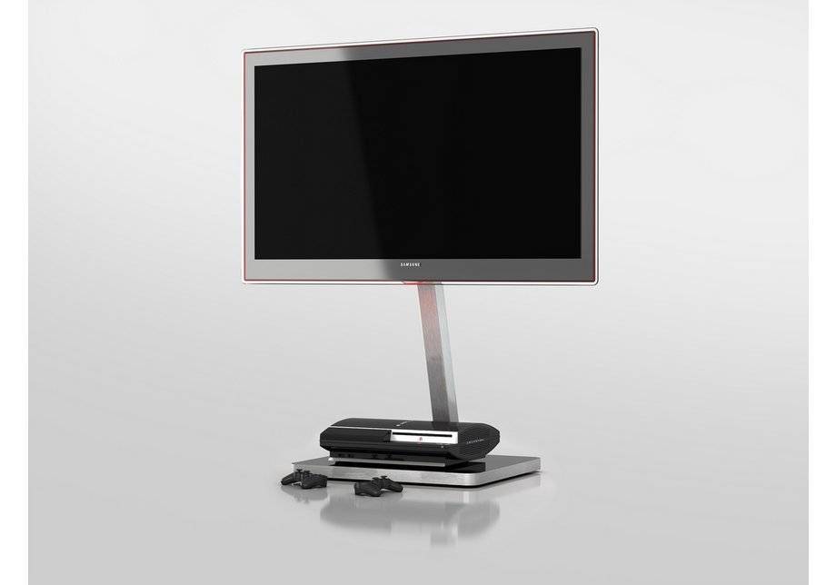 Sonorous TV and Media Stand - Black and Silver.