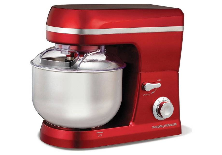 Morphy Richards - Accents Stand Mixer - Red