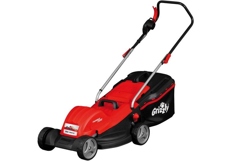 Grizzly Tools 1800W 44cm Corded Electric Lawnmower.