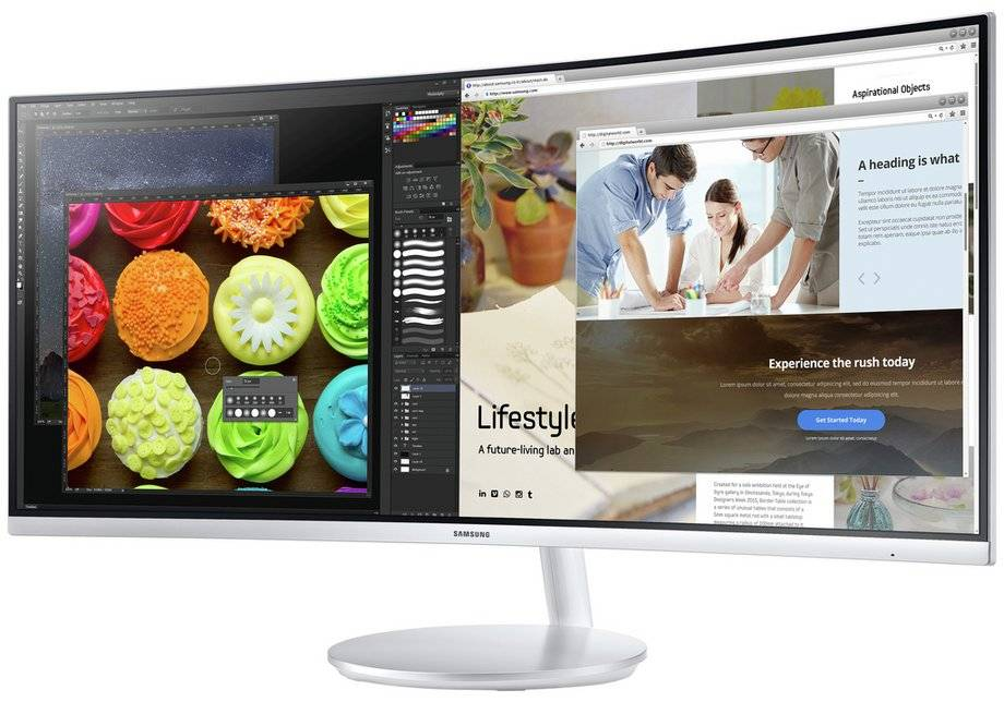 Samsung CF791 34 Inch Curved Monitor.