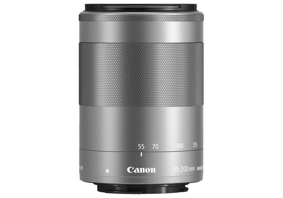 Canon EF-M 55-200mm f/4.5-6.3 STM Lens - Silver