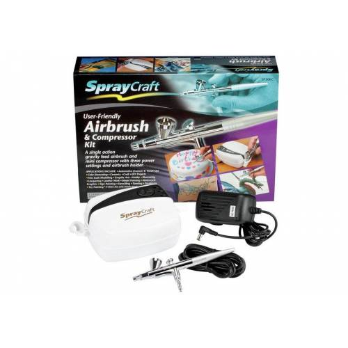 Spraycraft Gravity Feed Airbrush and Compressor Kit.