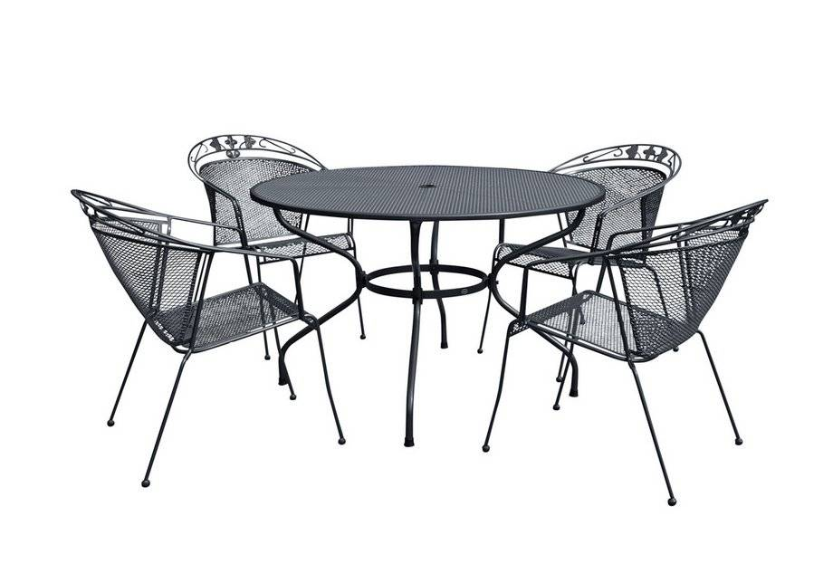Royal Garden Elegance 4 Seat Table and Chair Set