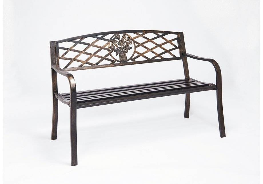 Greenhurst Garden Cast Iron Bench - Brown