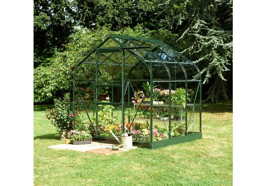 Halls Supreme Toughened Glass 10 x 8ft Greenhouse with Base.