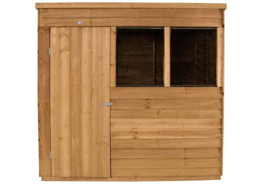 Forest Garden Forest Overlap Wooden Shed with Base - 7 x 5ft