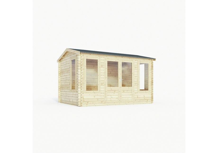 Mercia Garden Products Mercia 4m x 3m Home Office Log Cabin.