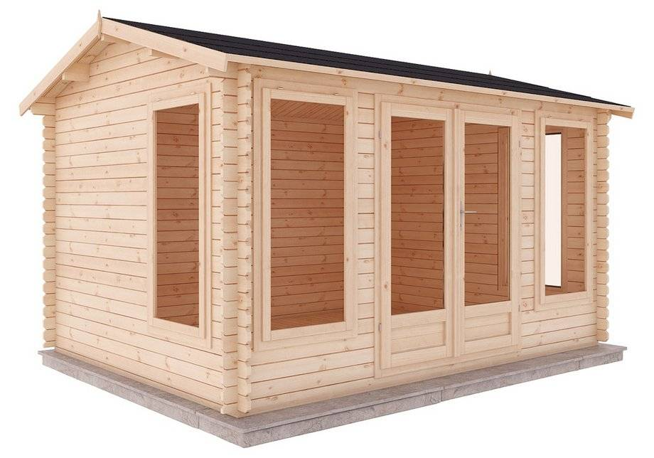 Mercia Garden Products Mercia 5m x 4m Home Office Log Cabin.