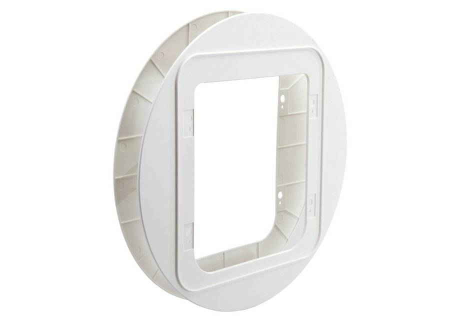 Sureflap Pet Door Glass Mounting Adaptor - White.