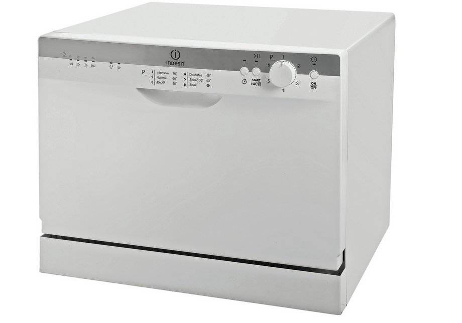 Indesit - ICD661 Freestanding Compact Dishwasher - White