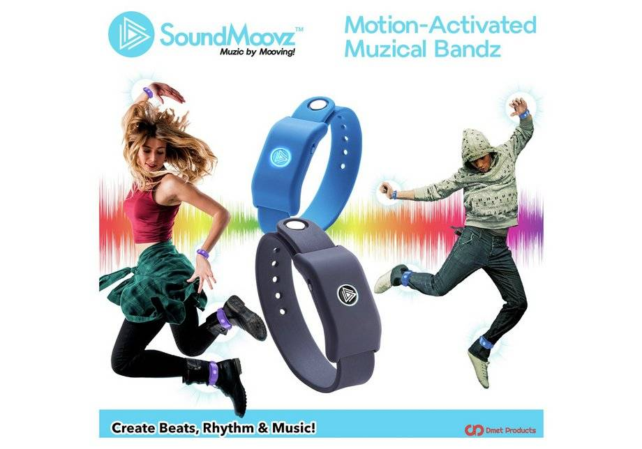 Beat Moovz SoundMoovz Motion-Activated Musical Bandz & App