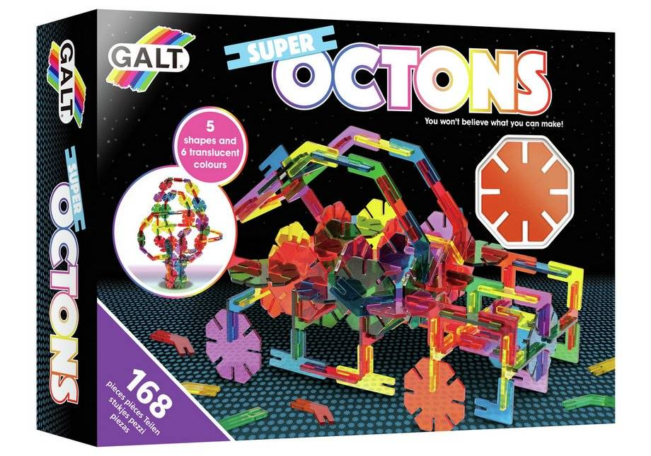 Galt Toys Super Octons Construction Toy - 168 Pieces