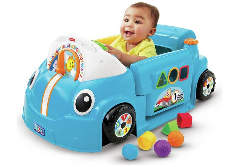 Fisher-Price Laugh & Learn Crawl-a-Round Car - Blue