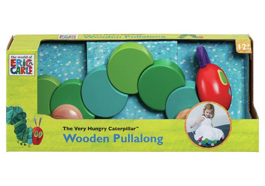 Caterpillar The Very Hungry Caterpillar Wooden Pull Along Toy.
