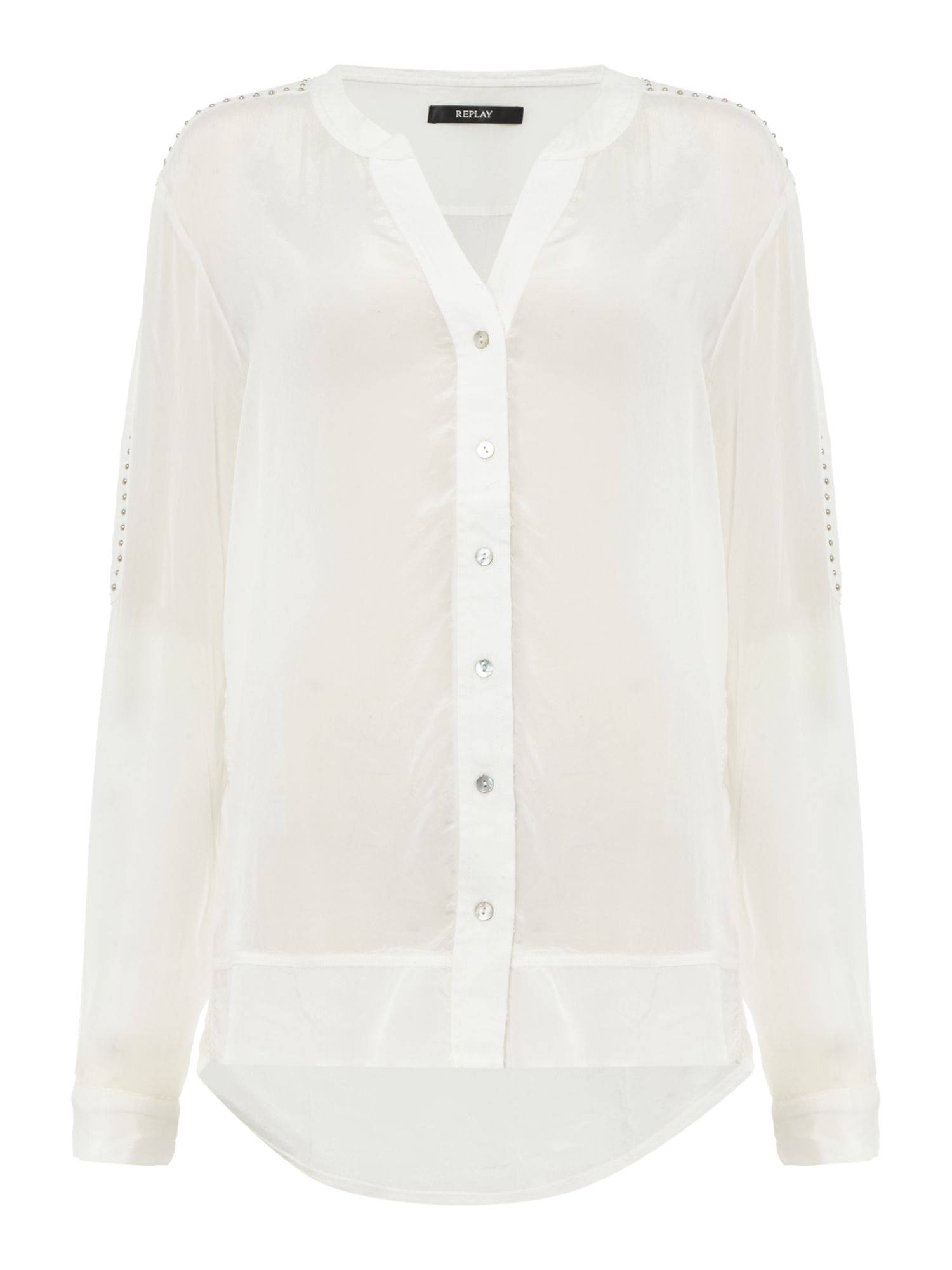 Replay Studded georgette shirt (Large)