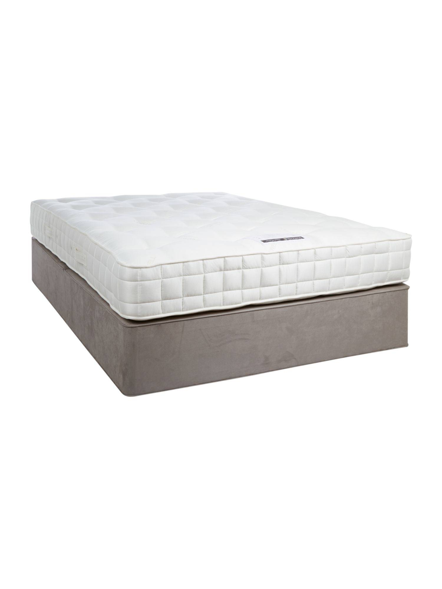 LINEA Home by Hypnos Sleepwell 1200 king padded top divan set grey