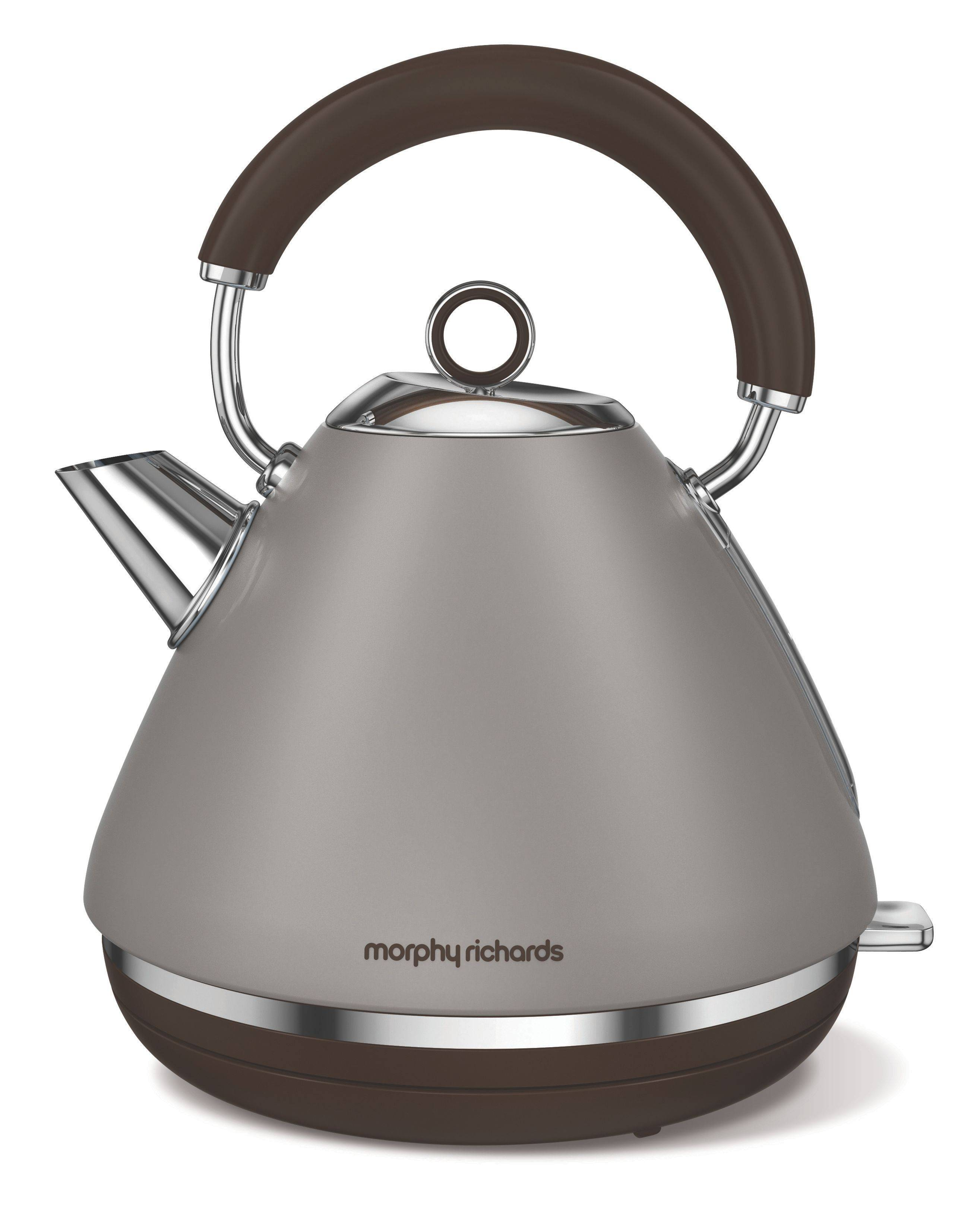 Morphy Richards Accents Special Edition Pyramid Kettle, Pebble