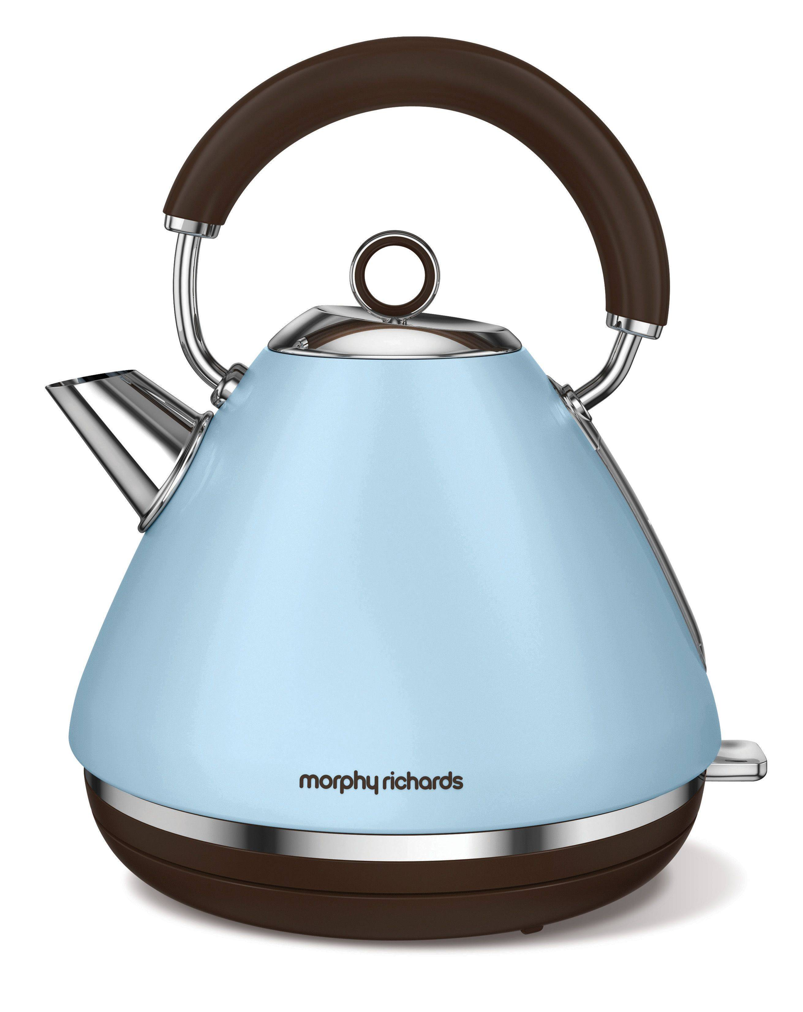 Morphy Richards Accents Special Edition Pyramid Kettle, Azure