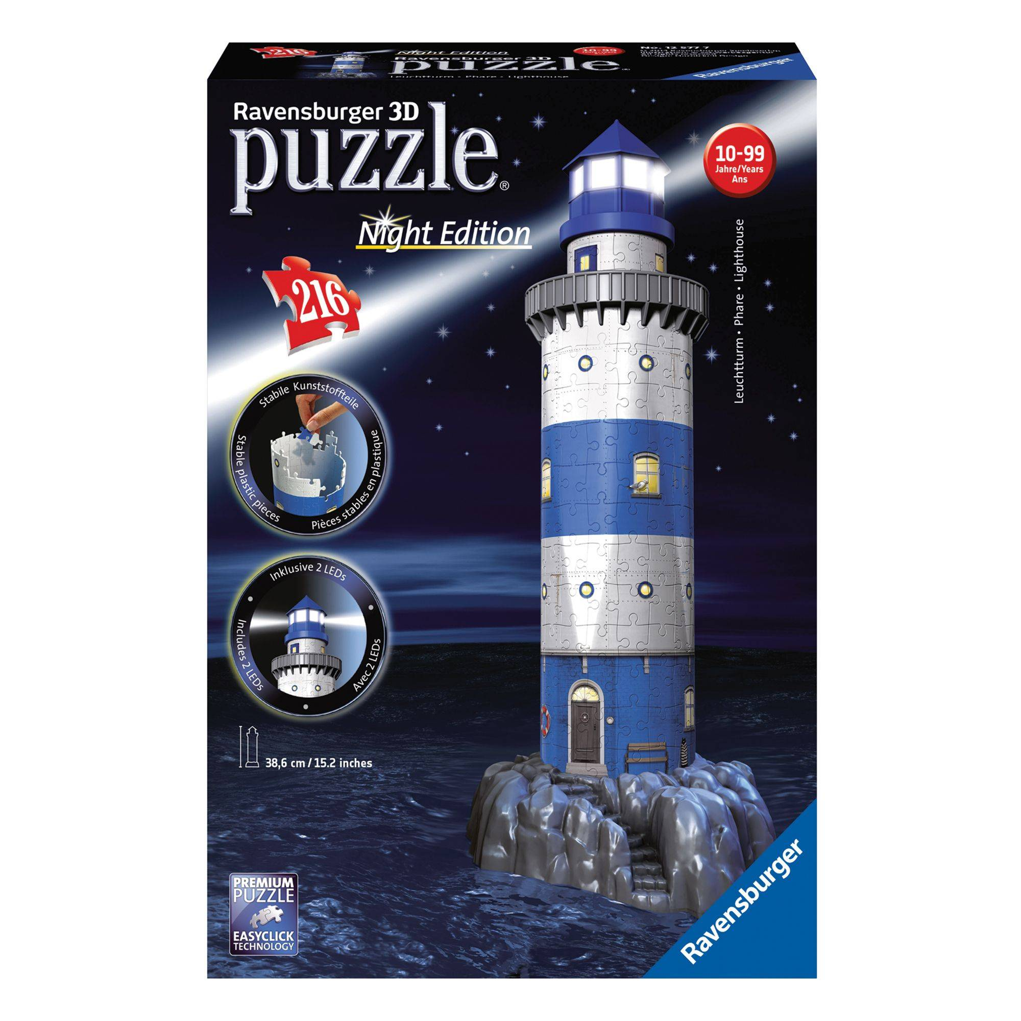 Ravensburger Night Edition Lighthouse 216 Piece 3D Puzzle