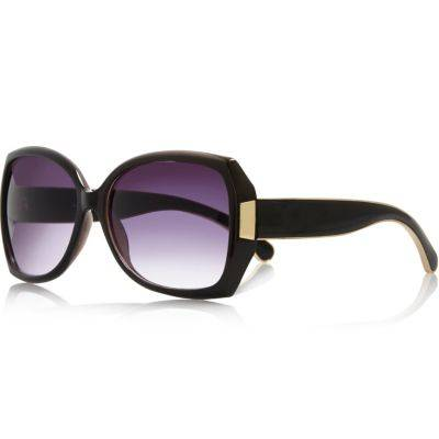 River Island Womens Black oversized sunglasses