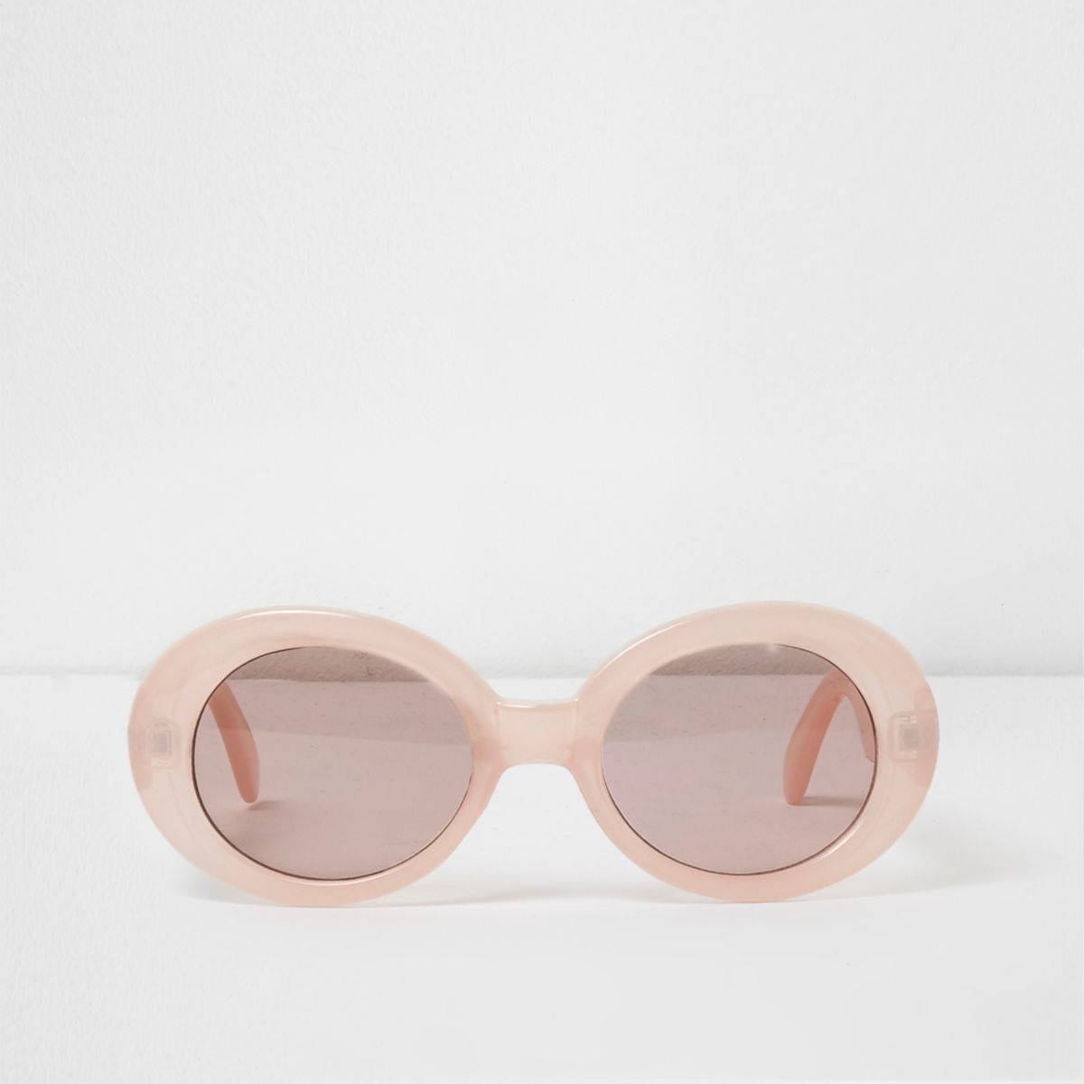 River Island Womens Pink oval sunglasses (One Size)