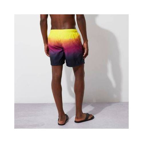 River Island Mens Yellow tie dye swim shorts (Size S)