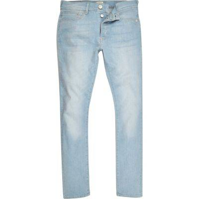 River Island Mens Light Blue Danny super skinny jeans