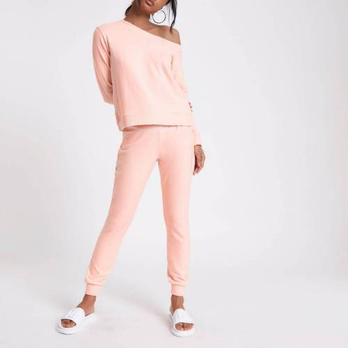 River Island Womens Pink jersey skinny fit joggers (Size XS)