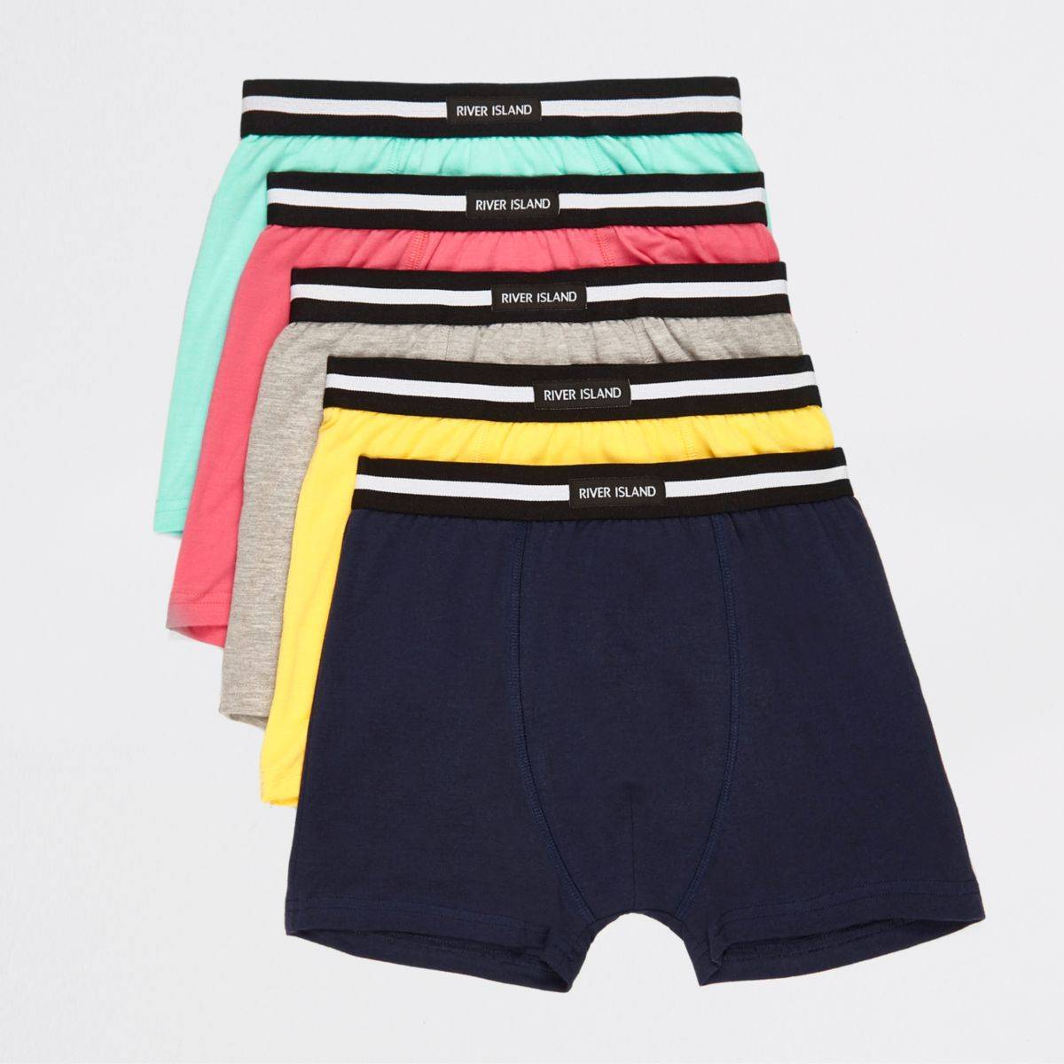 River Island Boys Green brights boxers multipack (Size 9 - 10 Years)